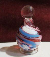 Hand blown art deco Multi color perfume boltte with dauber
