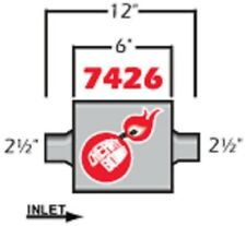 Cherry Bomb Extreme Muffler 7426cb 4 Inch X 9 34 Inch Oval Centercenter New