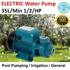 Electric Pump Clean Water Rain Tank Garden Pool Irrigation Farming 35L/Min NEW