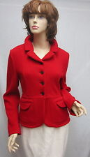 MIU MIU Red Wool Pocket JACKET UNIQUE SZ 44