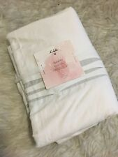 Pottery Barn Teen Isabella Rose Taylor Dorm Twin XL White Pleated Duvet Cover