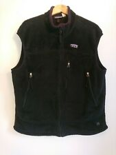 Men's Patagonia Black Fleece Vest Size XL Made In USA Regulator R Gilet Jacket