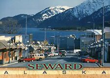Main Street Scene View, Downtown Seward Alaska, Sealife Center AK etc - Postcard