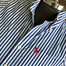 Abercrombie & Fitch Mens Cotton Striped Button Front Muscle Slim Fit Shirt Small