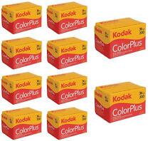 10 Rolls Kodak Color Plus 200 35mm Negative Film ColorPlus 135-36 exp. FRESH