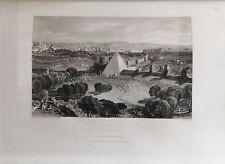 ITALIA. ROME, ROMA, MONTE TESTACCIO. GRABADO ORIGINAL DE HAKEWILL, 1820