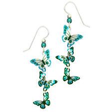 Sienna Sky Turquoise & Teal Butterflies Pierced Earrings ~Handmade in Colorado~