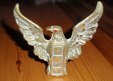 Solid Brass Eagle Figure with Red Eye