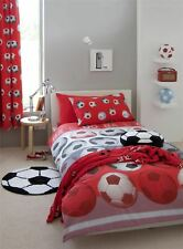 DOUBLE REVERSIBLE FOOTBALL SOCCER RED COTTON DUVET SET COVER QUILT COVER SET