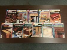 Lot of (11) - Today's Woodworker Projects, Tips and Techniques Magazine - ex-lib