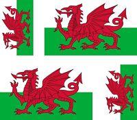 4 x Aufkleber Auto Sticker tuning motorrad Autoaufkleber Fahne Flagge Wales