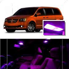 For Dodge Grand Caravan 2008-2015 Pink LED Interior Kit + Pink License Light LED