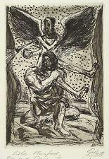HUBERTUS GIEBE - Künstler mit Fama - Radierung 1988