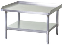 New 48x30 Equipment Stand Stainless Steel Top 16 Ga Galvanized Bottom Nsf 6964