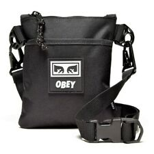 OBEY 'Conditions Side Pouch III' Unisex Nylon Crossbody Phone Bag / Case Blk NWT