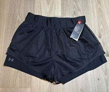 Womens Under Armour Warrior Mesh Layer Black Training Shorts Size Med