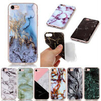 Slim Retro Granite Marble Pattern Soft TPU Phone Case Cover For iPhone 5 6S 7 Pl