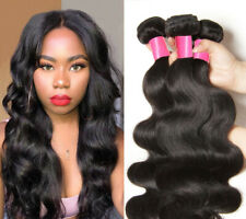 Malaysian Body Wave Bundles Remy Human Hair Extension Natural Color 3 Bundles
