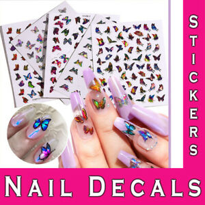 Nail Stickers 3D Laser Holographic Butterfly Adhesive Diy Manicure Art Decals
