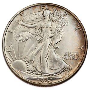 1943 Silver Walking Liberty Half Dollar 50C (Choice BU Condition)