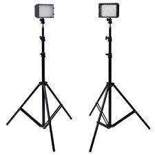 Neewer 2 Pcs Photo 126 LED Studio Lighting for Camcorder and Light Stand MT@9