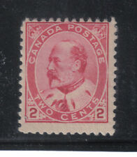 90 CANADA MINT 2 CENT CARMINE KING EDWARD VII POSTAGE STAMP 1903