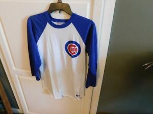 Vintage Chicago Cubs Sand-Knit MLB Shirt Size Adult Medium Long Sleeve NICE