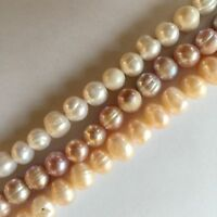 choose colors Jewelry making 1Strand Natural Freshwater round Pearl Beads 8-9mm