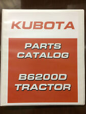 Kubota B6200D 6200 4wd Tractor Parts Catalog Assembly Manual Exploded Diagram