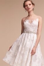 Bhldn Anthropologie Coletta Dress NEW Size 6 Wedding Gown Knee Length NWT