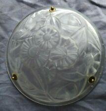 vasque lustre lampe signé degué verre art déco suspension