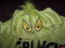 Nwt Adult Grinch Super Soft One Piece Hoodie Pajamas Size L Baby Blanket Soft!