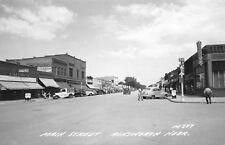 Ainsworth NE~Main Street~Spearman's IGA~Lee Stores~Theatre~1930-40s Cars~RPPC