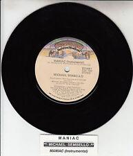 "MICHAEL SEMBELLO  Maniac  7"" 45 rpm vinyl record + juke box title strip"