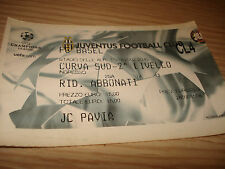 Billet Ticket Champions League Juventus FC Bâle 11/12/2002 Courbe Sud