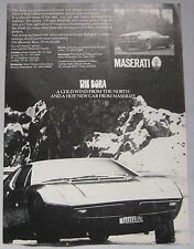 1972 Maserati Bora Original advert