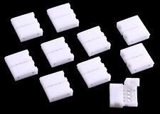 10x RGB LED Streifen Strip Connector Adapter Clip Schnell Verbinder 4 Polig 10mm