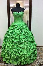 NEW Mori Lee Vizcaya Quinceanera XV Sweet Dress Ball Gown 87086 Lime Green Ruffl