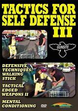 Tactics for Self Defense III Defensive Mental Weapons Tactics DVD NEW