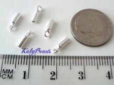 20x 1.5mm solid 925 Sterling Silver leather cord end cap endcap  made in USA D57