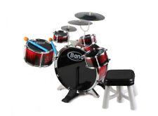 Batteria Musicale 5 Tamburi 3 Piatti Giocattolo Con Sgabello E Bacchette Musica