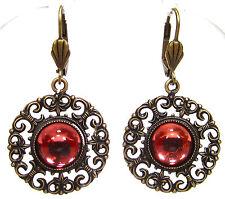 Modeschmuck-Ohrschmuck im Hänger-Stil aus Gemischte Metallen mit Cabochon für Damen