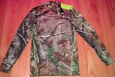 UNDER ARMOUR COLD GEAR INFRARED CAMO REALTREE SHIRT LONG SLEEVE SCENT CONTROL M