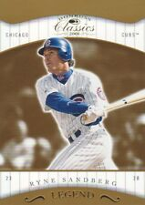 2001 Donruss Classics Baseball #181 Ryne Sandberg LGD /1755 Chicago Cubs