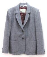 vintage blue herringbone fleck JIMMY HOURIHAN donegal tweed blazer jacket M L
