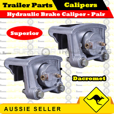 2 x Superior HYDRAULIC BRAKE CALIPERS - DACROMET COATED - BOAT TRAILER CARAVAN
