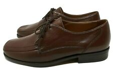 Clarks Ladies Flat Laced Shoes UK 8 Brown Extra Wide Comfortable Leather Work