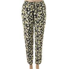 Bar III Casual Drawstring Pull On Pants Flat Front Lemonade Combo Macys L NWT