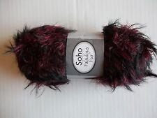 Herrschners Soho Fabulous Fur fuzzy eyelash yarn, Sirah, 1 skein (109 yds)