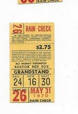 1970 May 31 baseball ticket Chicago White Sox Boston Red Sox, 22-13 final score!
